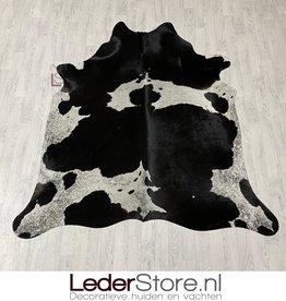 Cowhide rug black white 215x200cm M/L