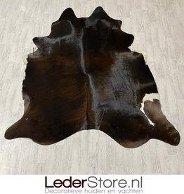 Koeienhuid bruin zwart wit brindle 225x210cm M/L