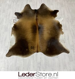 Cowhide rug black brown white 205x190cm M/L