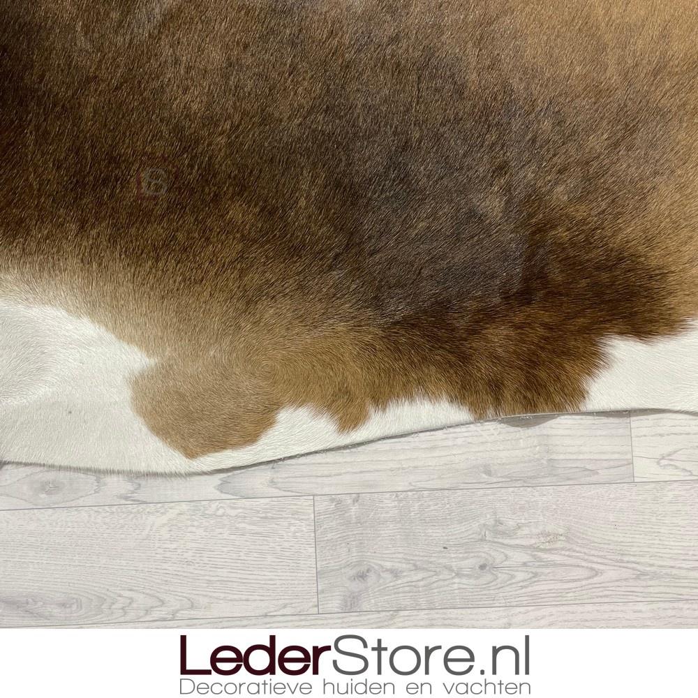 Koeienhuid zwart bruin wit 205x190cm