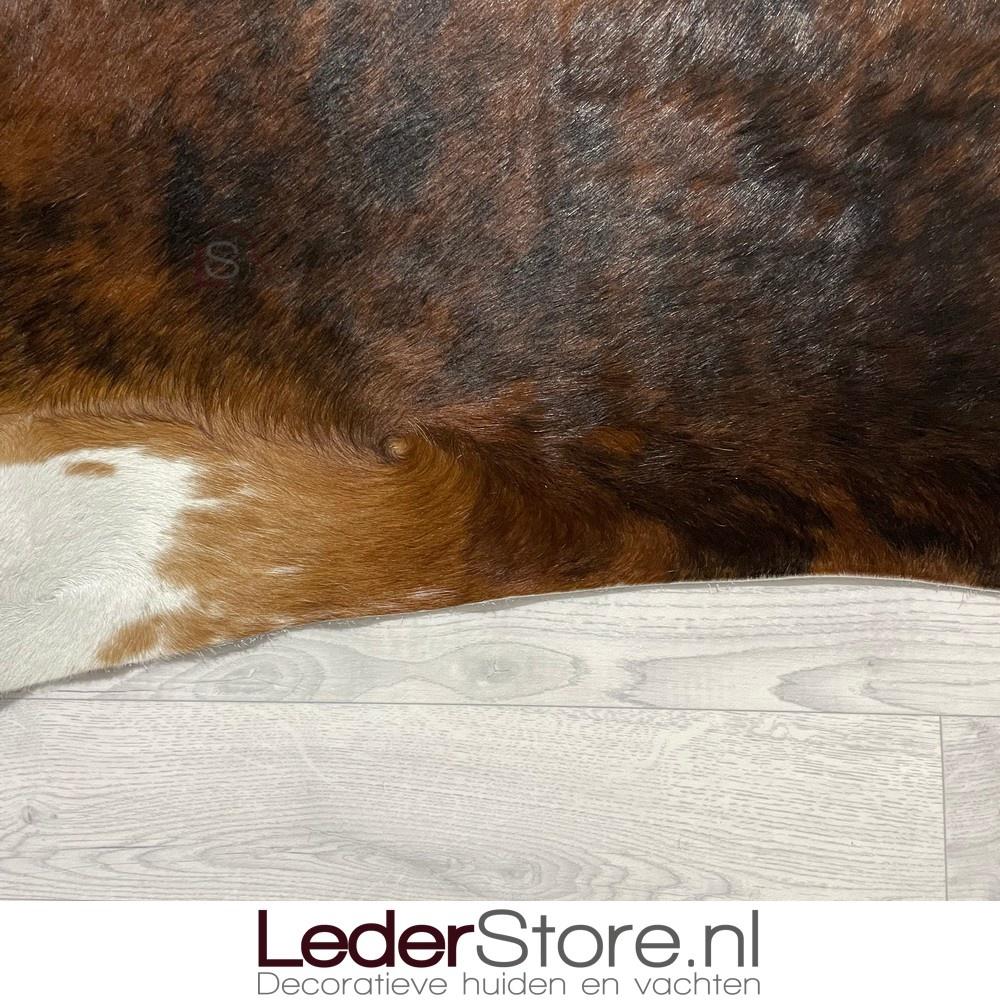 Koeienhuid bruin zwart wit brindle 230x215cm