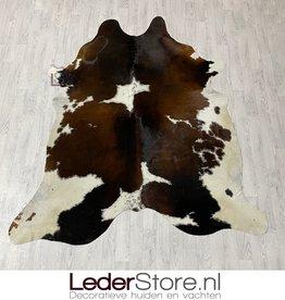Cowhide rug brown black white 225x195cm M/L