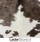 Koeienhuid taupe wit 225x185cm