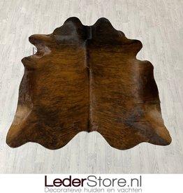 Koeienhuid bruin zwart brindle 215x200cm M/L