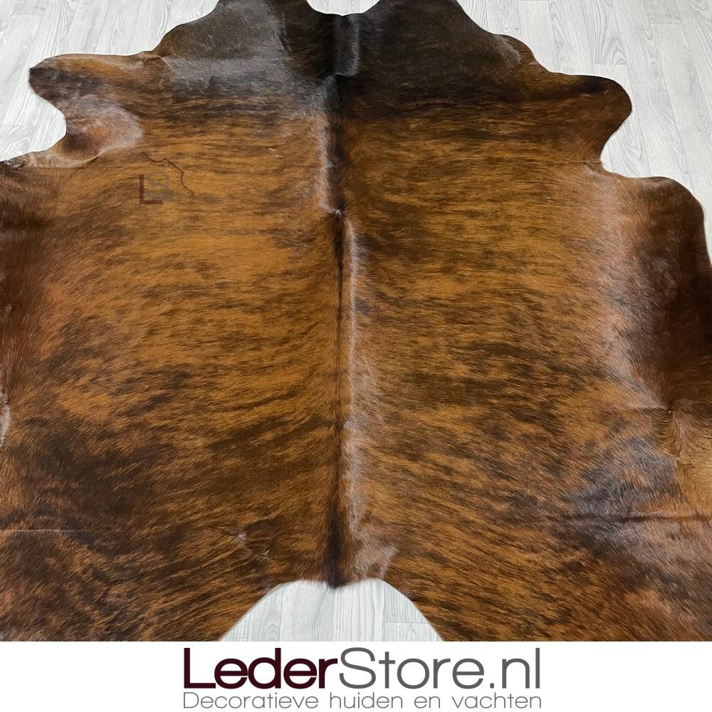 Koeienhuid bruin zwart brindle 215x200cm