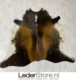 Cowhide rug brown black white 210x210cm M/L
