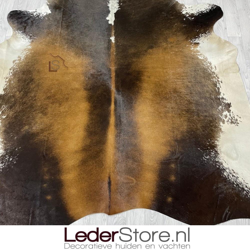 Koeienhuid bruin zwart wit 210x210cm