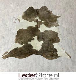 Cowhide rug taupe white 215x200cm M/L