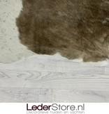 Koeienhuid taupe wit 215x200cm