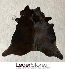 Koeienhuid zwart bruin brindle 225x200cm M/L