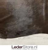 Koeienhuid zwart bruin brindle 225x200cm