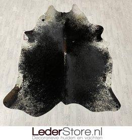 Koeienhuid zwart bruin wit salt n pepper 250x195cm M/L