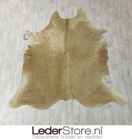 Cowhide rug beige white 225x195cm M/L