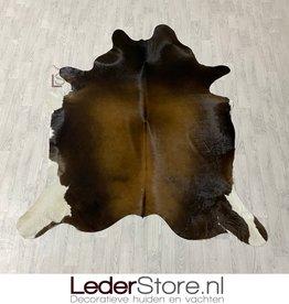 Cowhide rug brown black white 220x185cm M/L