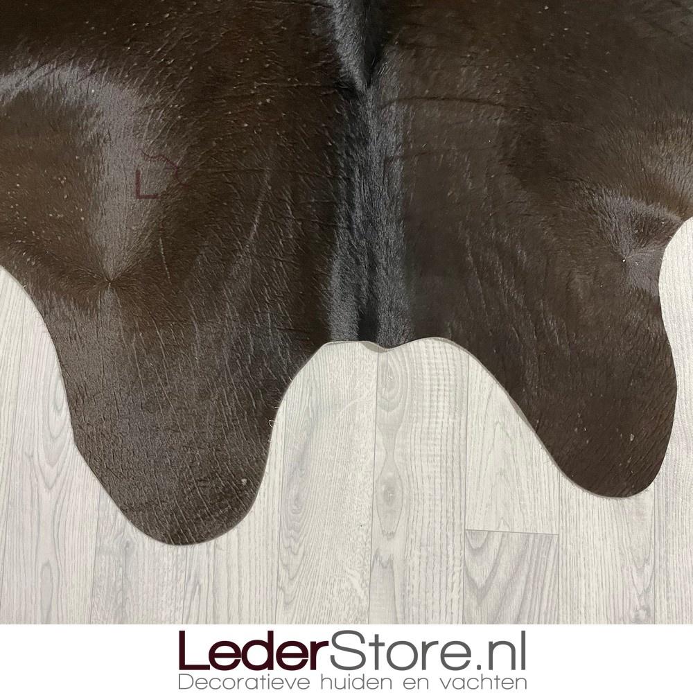 Koeienhuid bruin zwart wit 220x185cm