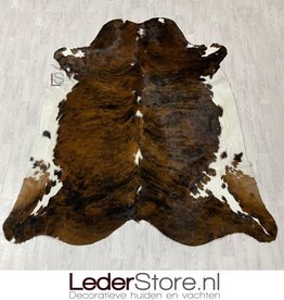Cowhide rug brown black white 245x230cm XL