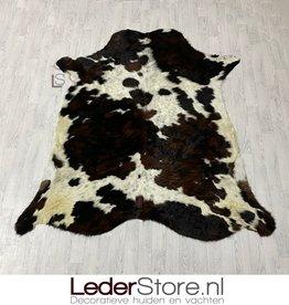 Cowhide rug black brown white 210x195cm M/L