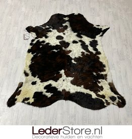 Koeienhuid bruin wit zwart 210x195cm M/L