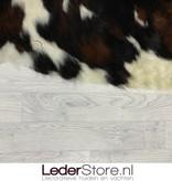 Koeienhuid bruin wit zwart 210x195cm