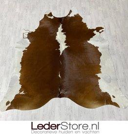Cowhide rug brown white Hereford 240x225cm XL