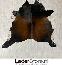 Cowhide rug brown black white 230x210cm XL