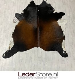 Koeienhuid bruin zwart wit 230x210cm XL