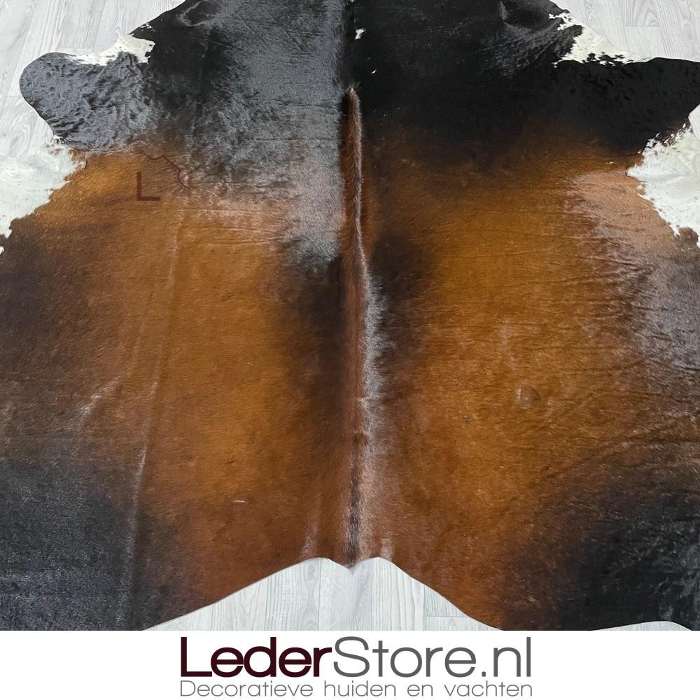 Koeienhuid bruin zwart wit 230x210cm