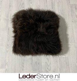 Sheepskin pillow brown 40x40cm