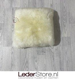 Sheepskin pillow white 40x40cm