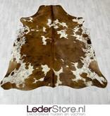 Koeienhuid tricolor zwart wit bruin normandier 225x200cm M/L