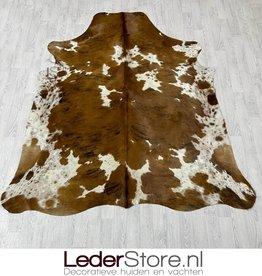 Cowhide rug tricolor black white brown Normandier 225x200cm M/L