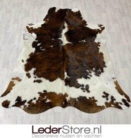 Cowhide rug tricolor black white brown Normandier 220x190cm M/L