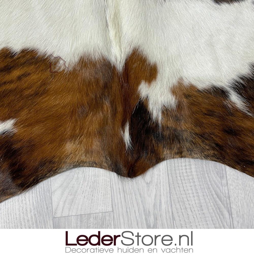 Koeienhuid tricolor zwart wit bruin normandier 220x190cm M/L