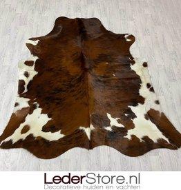Cowhide rug tricolor black white brown Normandier 210x195cm M/L