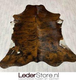 Cowhide rug tricolor black white brown Normandier 225x190cm M/L