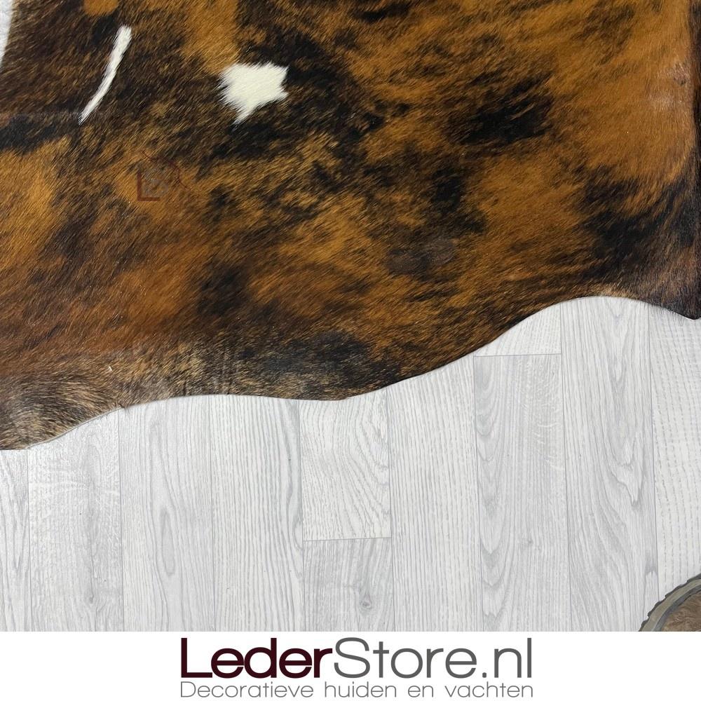 Koeienhuid tricolor zwart wit bruin normandier 225x190cm M/L