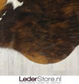 Koeienhuid tricolor zwart wit bruin normandier 245x225 XL
