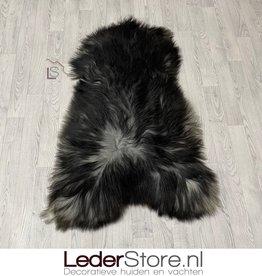 Icelandic sheepskin black grey 135x85cm XXL
