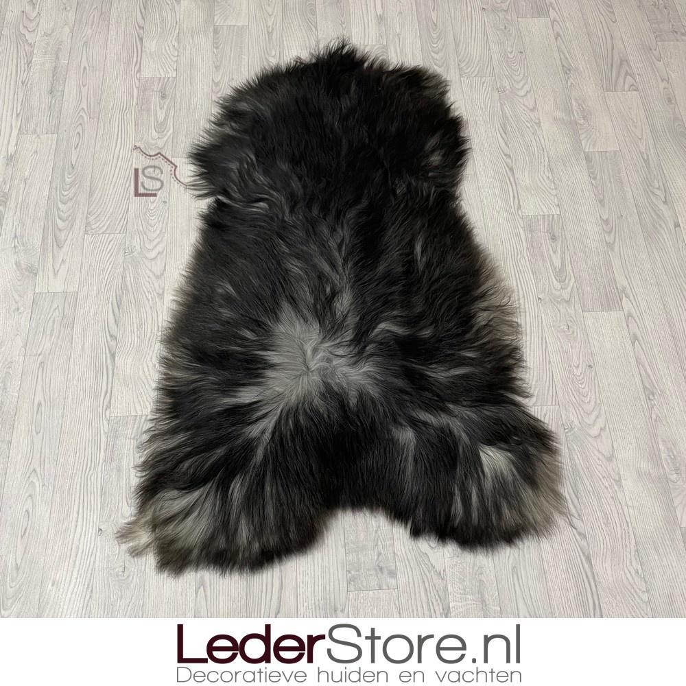 IJslander schapenvacht zwart grijs 135x85cm XXL