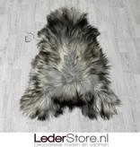 IJslander schapenvacht grijs bruin creme 140x90cm XXL