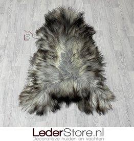 Icelandic sheepskin grey brown creme 140x90cm XXL