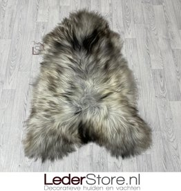Icelandic sheepskin grey brown creme 125x85cm XL