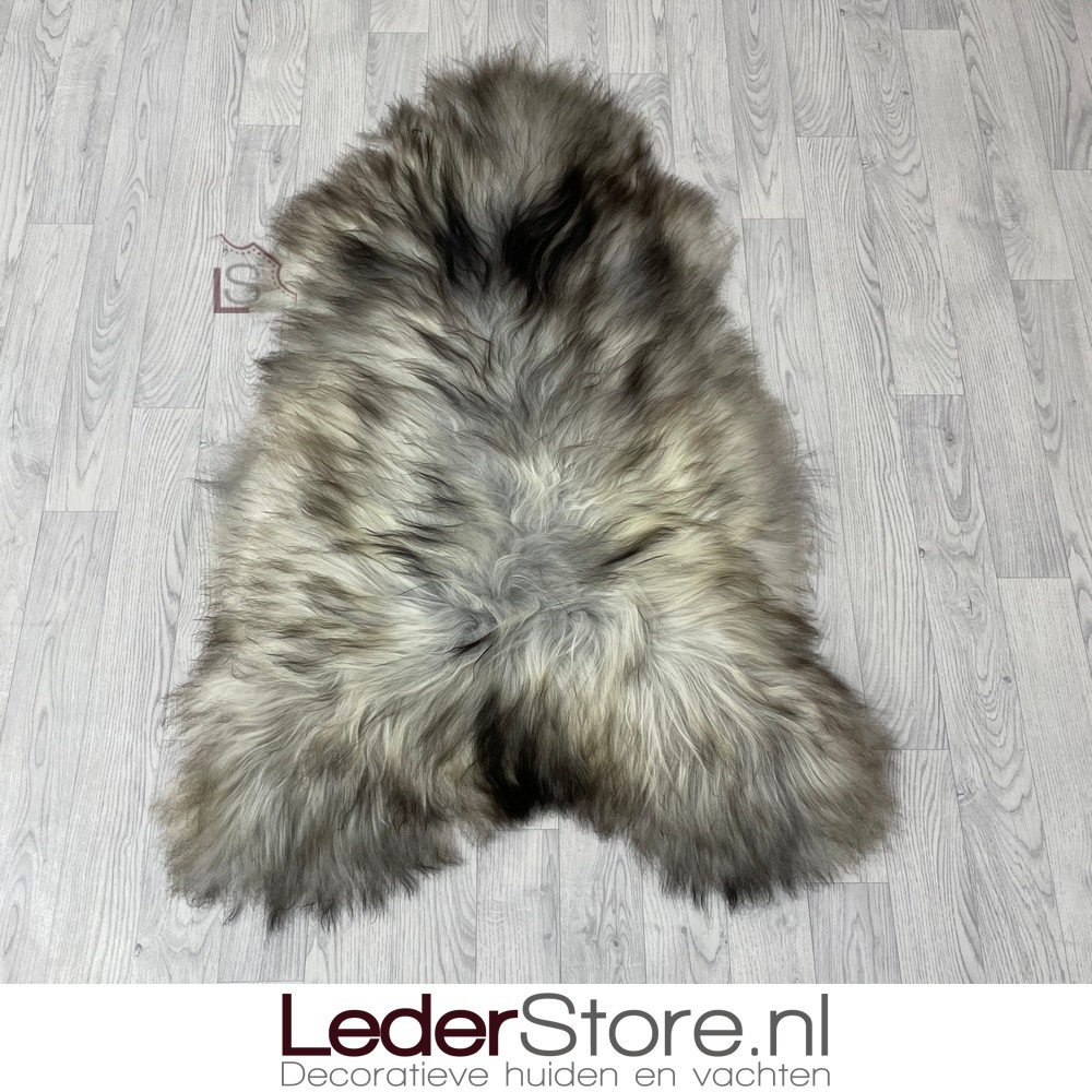 IJslander schapenvacht grijs bruin creme 125x85cm XL