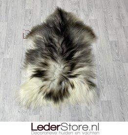 Icelandic sheepskin grey brown white 115x80cm L