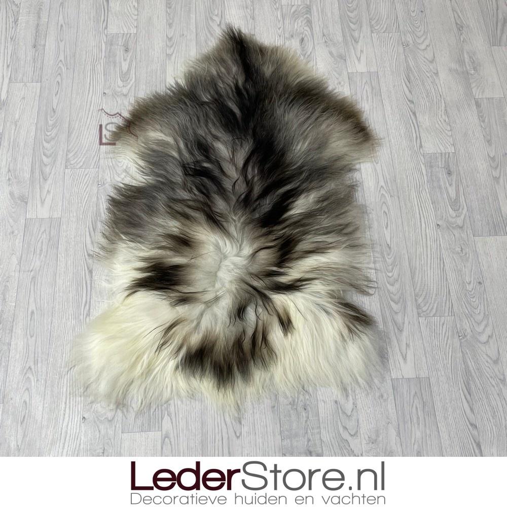 IJslander schapenvacht grijs bruin wit 115x80cm L