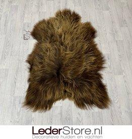 Icelandic sheepskin beige brown 130x85cm XXL