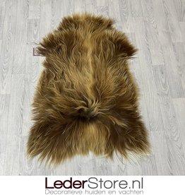 Icelandic sheepskin beige brown white 115x80cm L