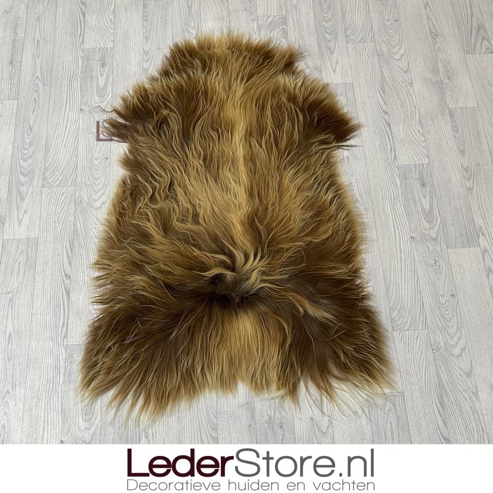 IJslander schapenvacht beige bruin wit 115x80cm L