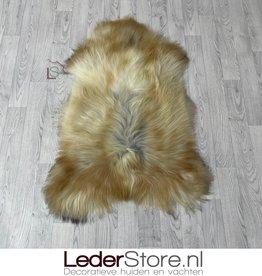 Icelandic sheepskin beige creme grey 115x80cm L
