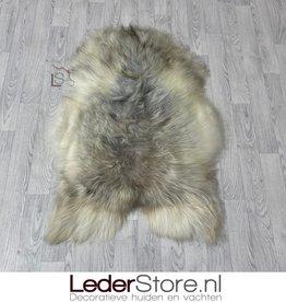Icelandic sheepskin grey brown creme 115x75cm L